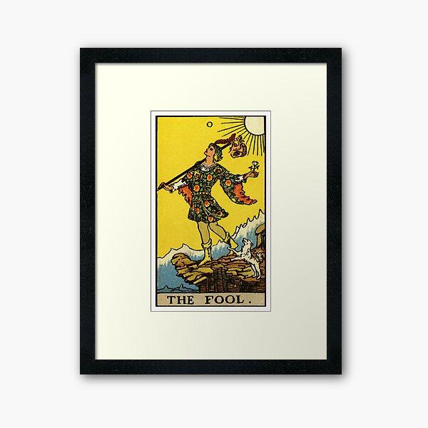 0. The Fool Tarot Card Framed Art Print