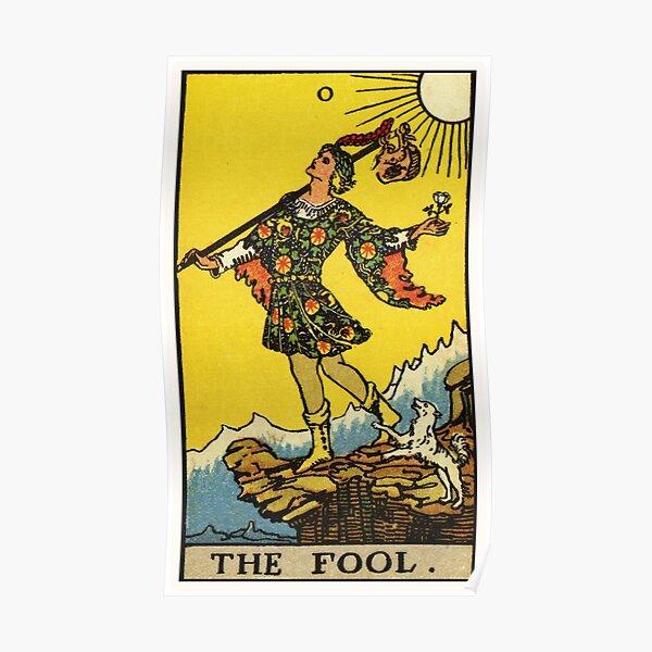 0. The Fool Tarot Card Poster