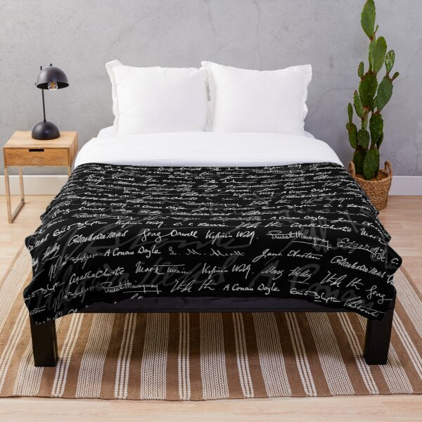 Literary Giants Pattern Throw Blanket