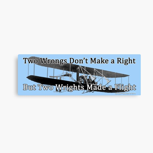 Wrights and Wrongs Canvas Print