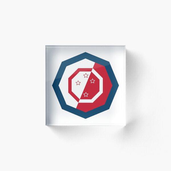 New Zealand Octagonal Logo Acrylic Block
