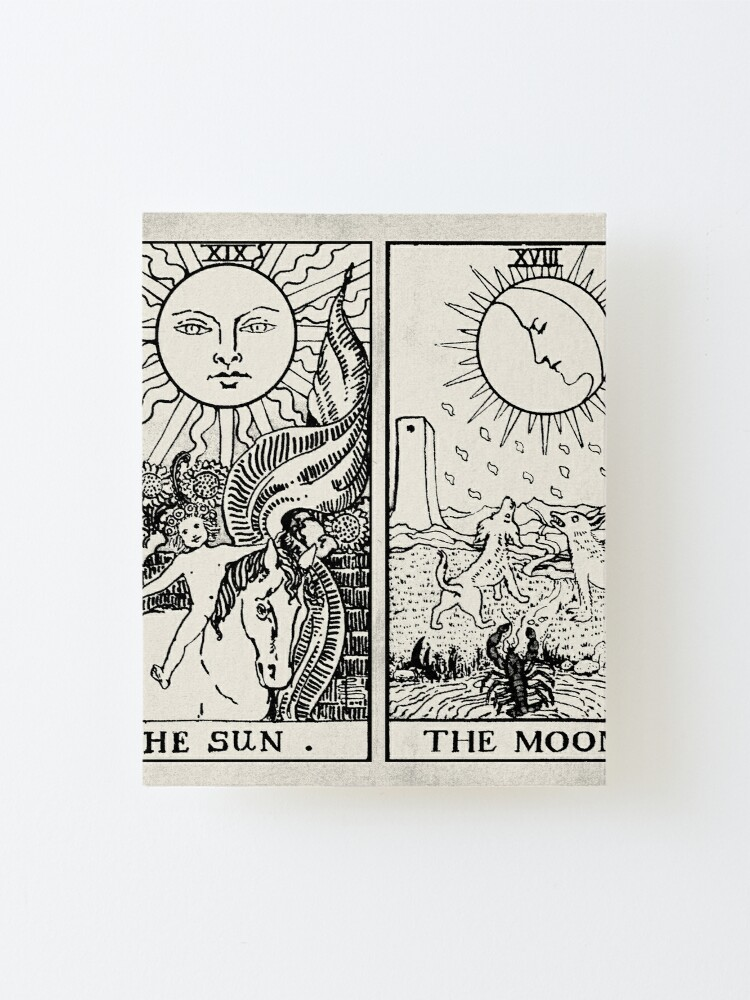 Alternate view of The Sun and Moon Tarot Cards Mounted Print