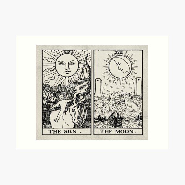The Sun and Moon Tarot Cards Art Print