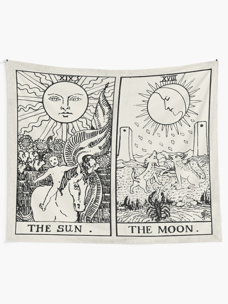 Alternate view of The Sun and Moon Tarot Cards Tapestry
