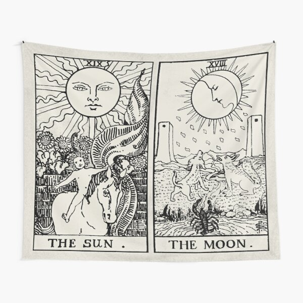 The Sun and Moon Tarot Cards Tapestry