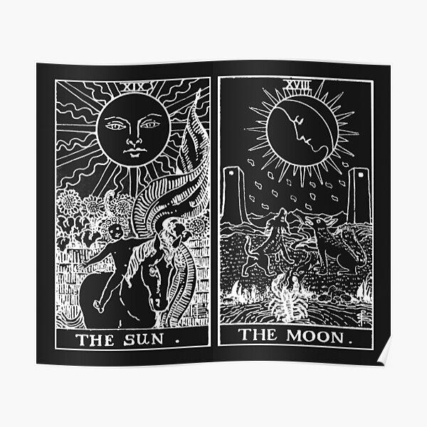 Le Tarot Soleil et Lune | Perle et Obsidienne Poster