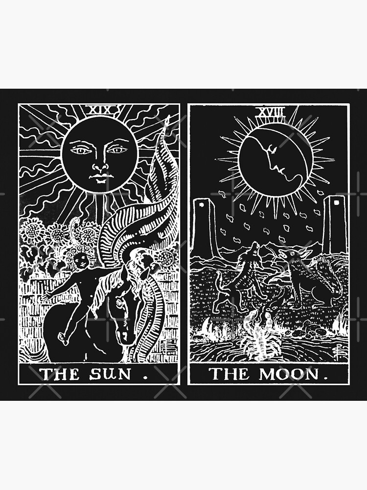The Sun and Moon Tarot Cards | Pearl & Obsidian by wildtribe
