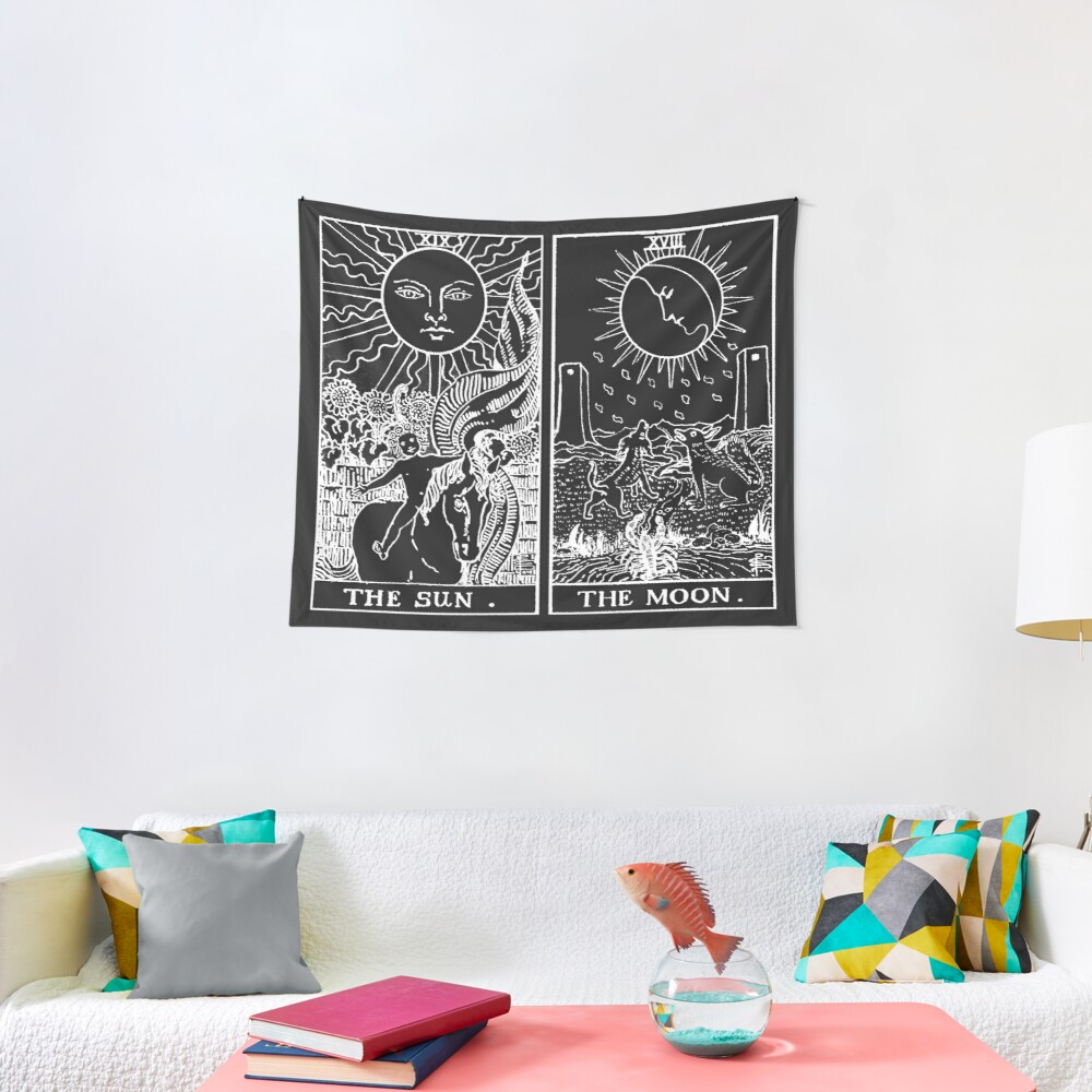 The Sun and Moon Tarot Cards | Pearl & Obsidian Tapestry