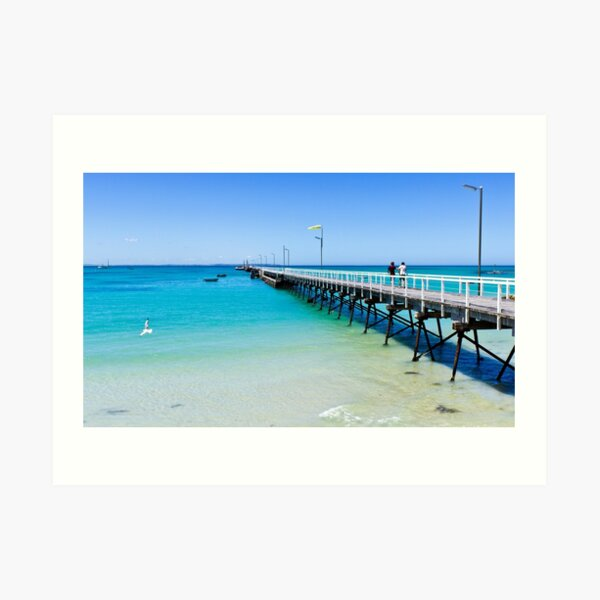 Beachport Jetty on a perfect day, South Australia Art Print