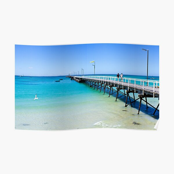 Beachport Jetty on a perfect day, South Australia Poster