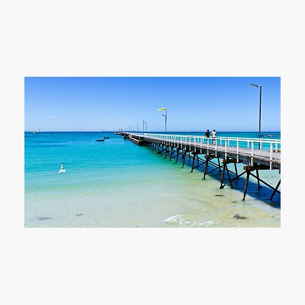 Beachport Jetty on a perfect day, South Australia Photographic Print