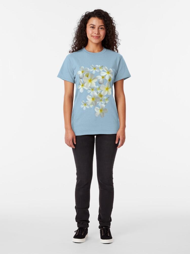 Alternative Ansicht von Frangipani - Weiß und Gelb Classic T-Shirt