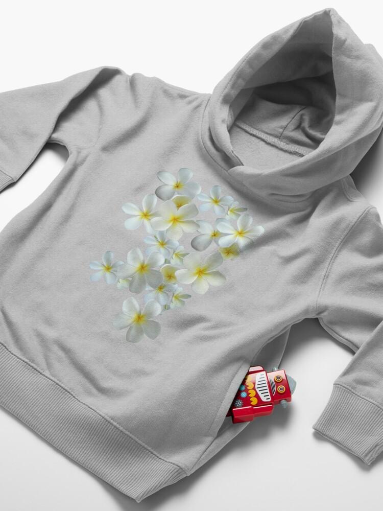 Alternative Ansicht von Frangipani - Weiß und Gelb Kleinkind Hoodie