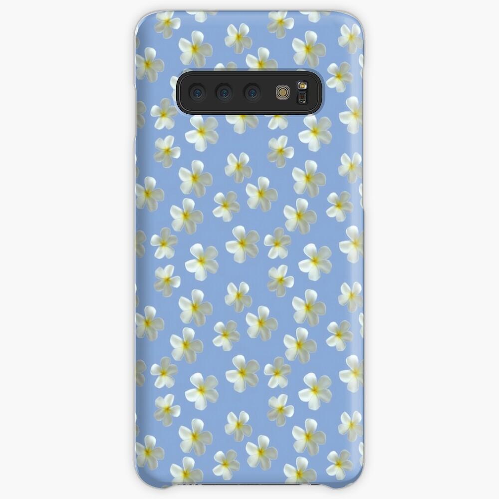 Frangipani - Weiß und Gelb Hülle & Klebefolie für Samsung Galaxy