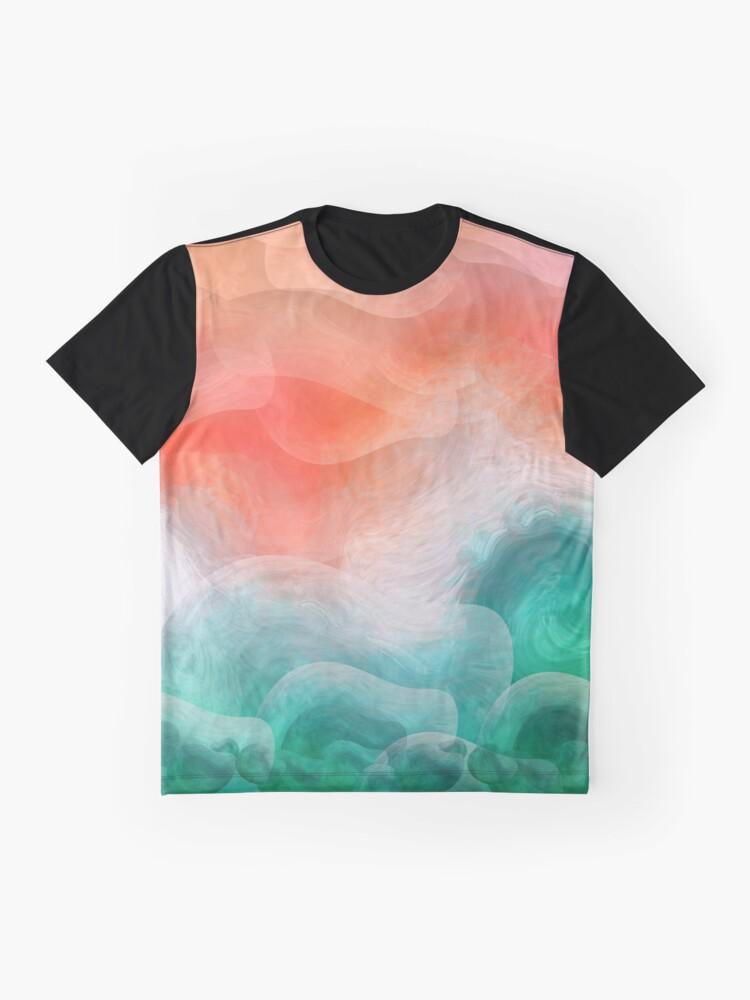 """Vista alternativa de Camiseta gráfica """"Playa de arena coral y mar turquesa tropical"""""""