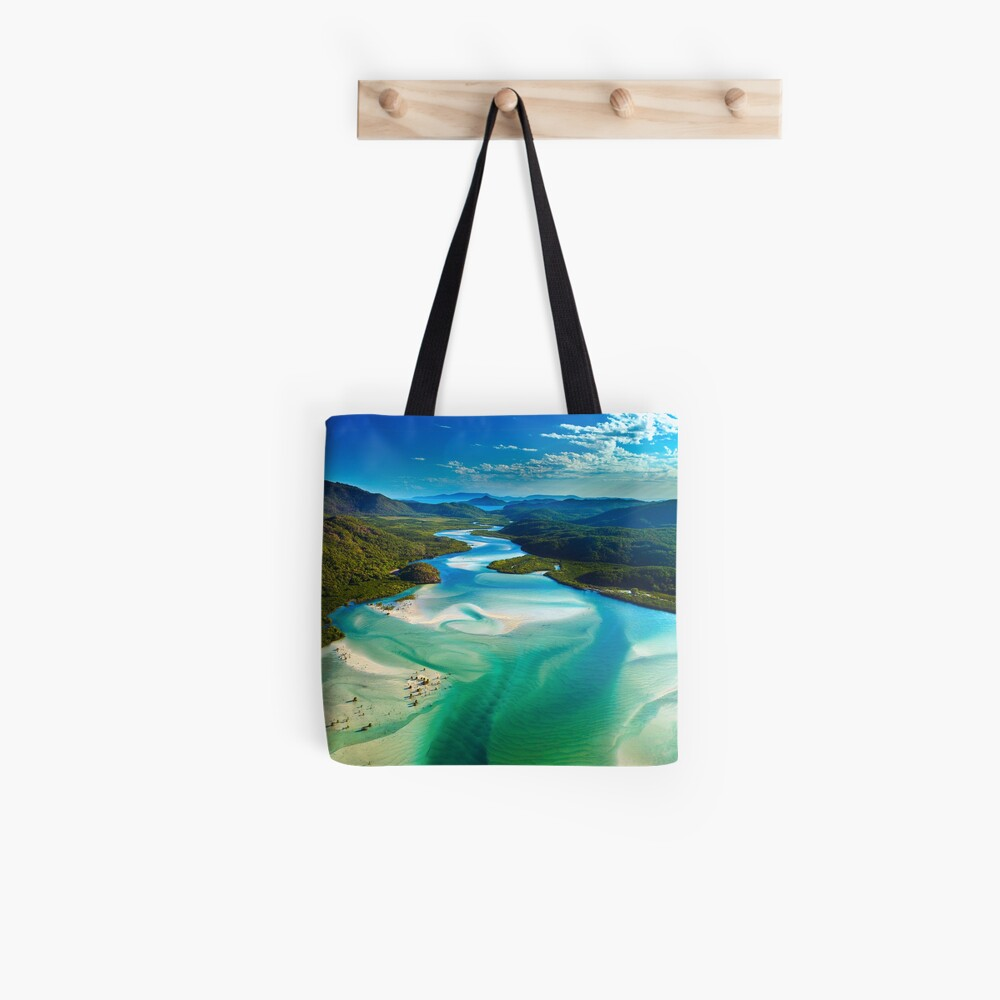 The Hill Inlet, Whitsundays Tote Bag