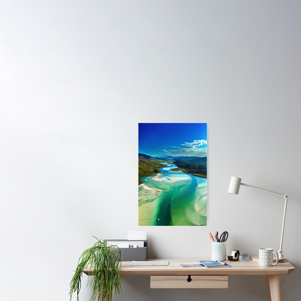 The Hill Inlet, Whitsundays Poster