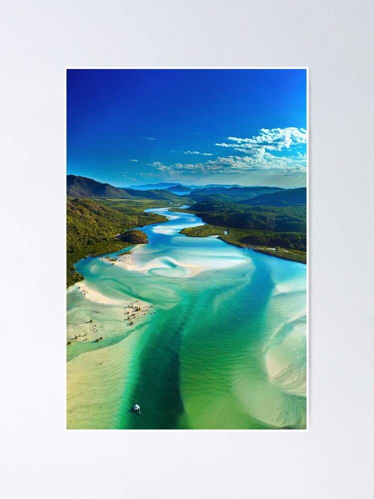 Alternate view of The Hill Inlet, Whitsundays Poster