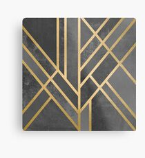 Art Deco Geometrie 1 Metallbild