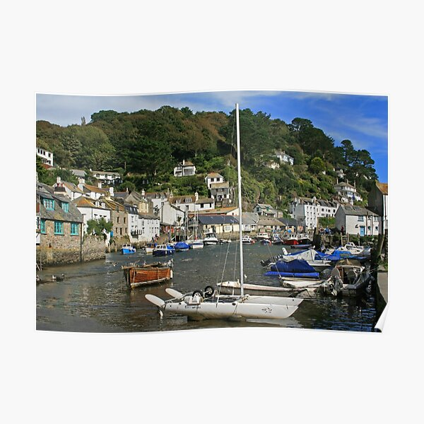 Framed Print Cornwall Padstow Travel Poster Boat Harbour Sea Ocean British Coast