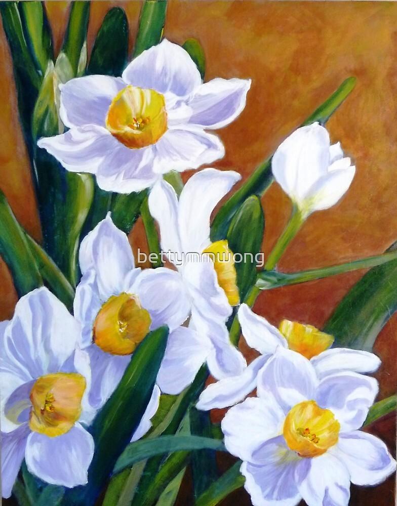 White daffodils by bettymmwong