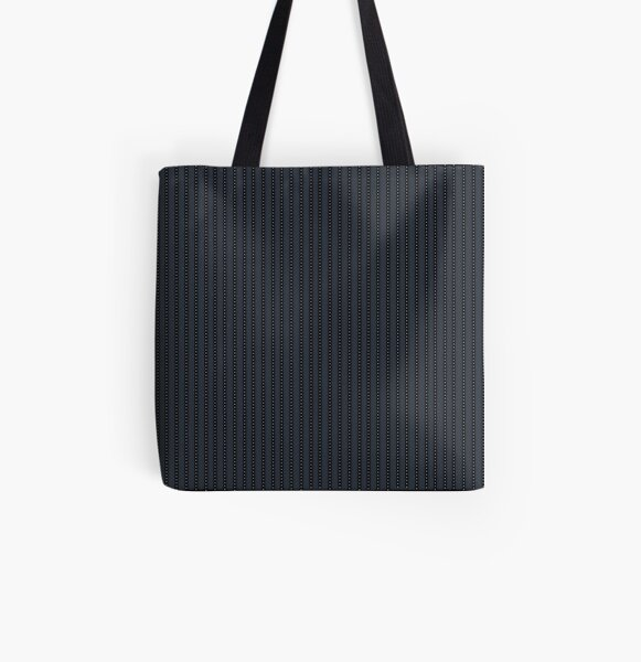 Grey Pinstripe pattern All Over Print Tote Bag