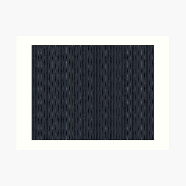 Grey Pinstripe pattern Art Print