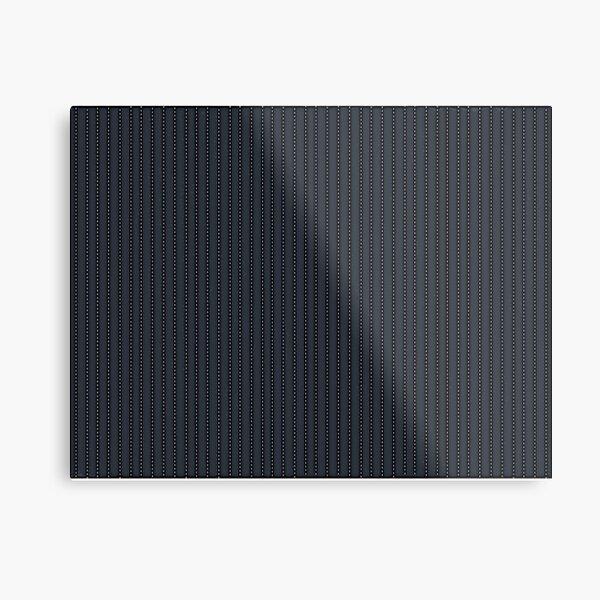 Grey Pinstripe pattern Metal Print