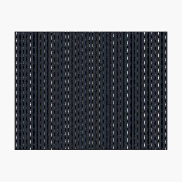 Grey Pinstripe pattern Photographic Print