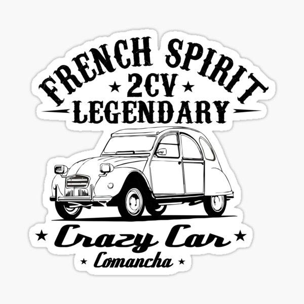 2cv Crazy Car - French Spirit Sticker