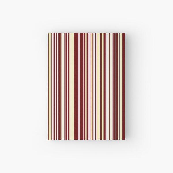 Burgundy Pinstripe Hardcover Journal