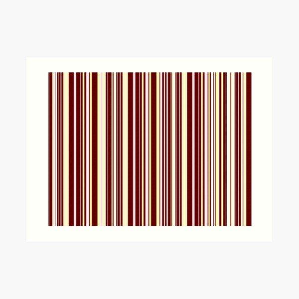 Burgundy Pinstripe Art Print