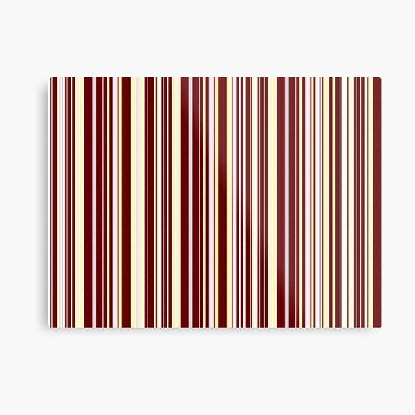 Burgundy Pinstripe Metal Print