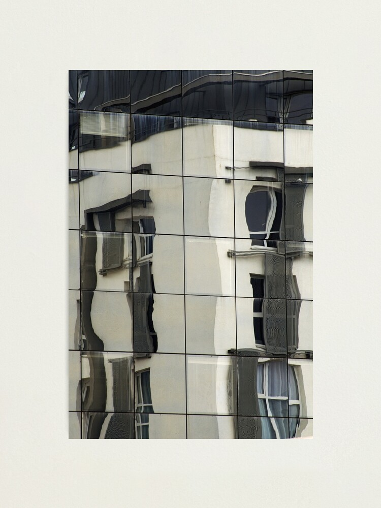 Alternate view of Building reflections in Annecy Photographic Print