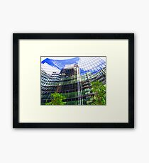 Reflections - The Willis Building - London  Framed Print