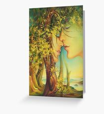 """"""" An Encounter at the Edge of the Forest"""" - postcard & greeting card Greeting Card"""
