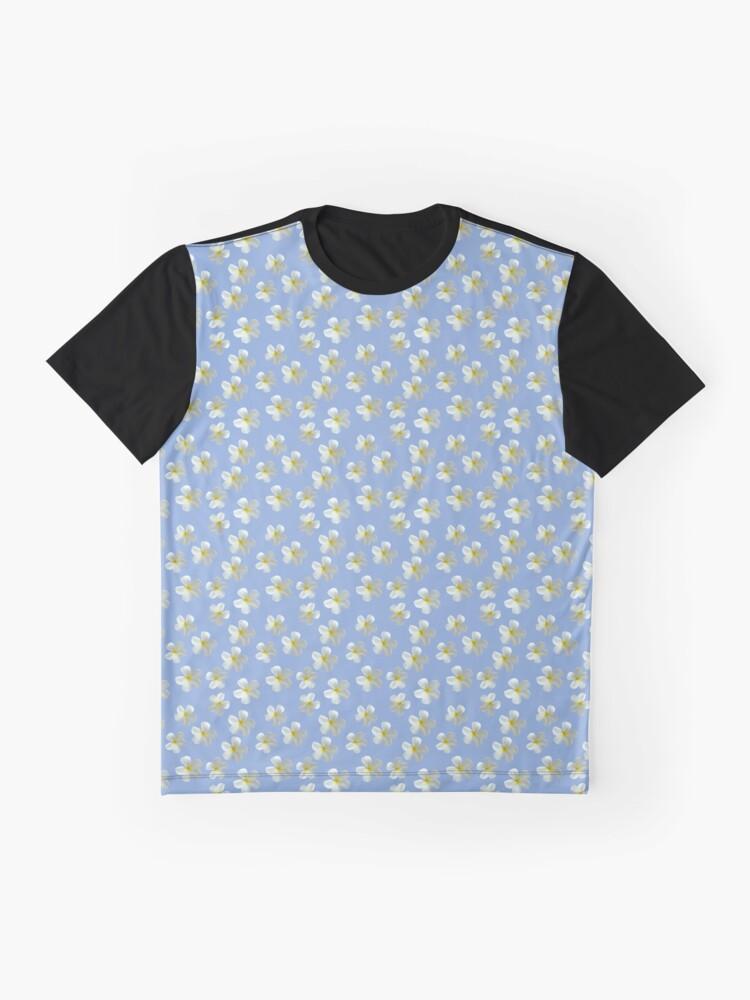 Alternative Ansicht von Frangipani - Weiß und Gelb Grafik T-Shirt
