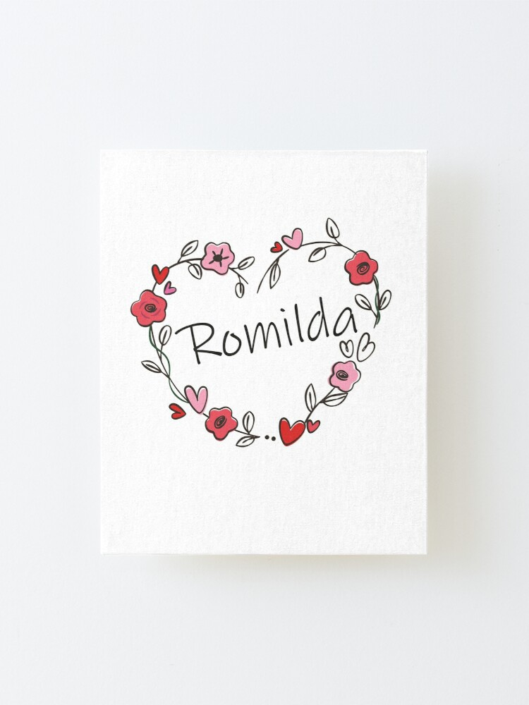 Romilda Mounted Print By Oleo79 Redbubble