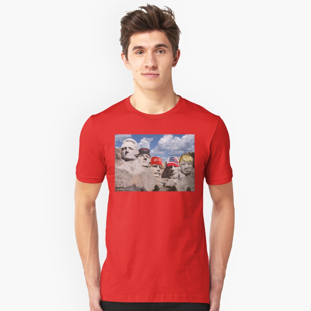 Mt. Rushmore Past and Future Slim Fit T-Shirt