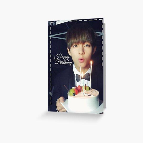 Happy Birthday card BTS kpop bangtan 3 Greeting Card