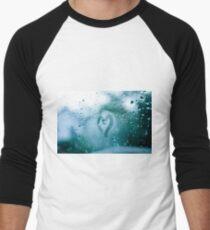 heart on window (color) Baseballshirt mit 3/4-Arm