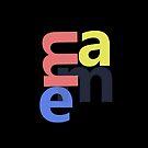 Name Tag, Custom Name, Abstract Emma - Girl Name by ys-stephen