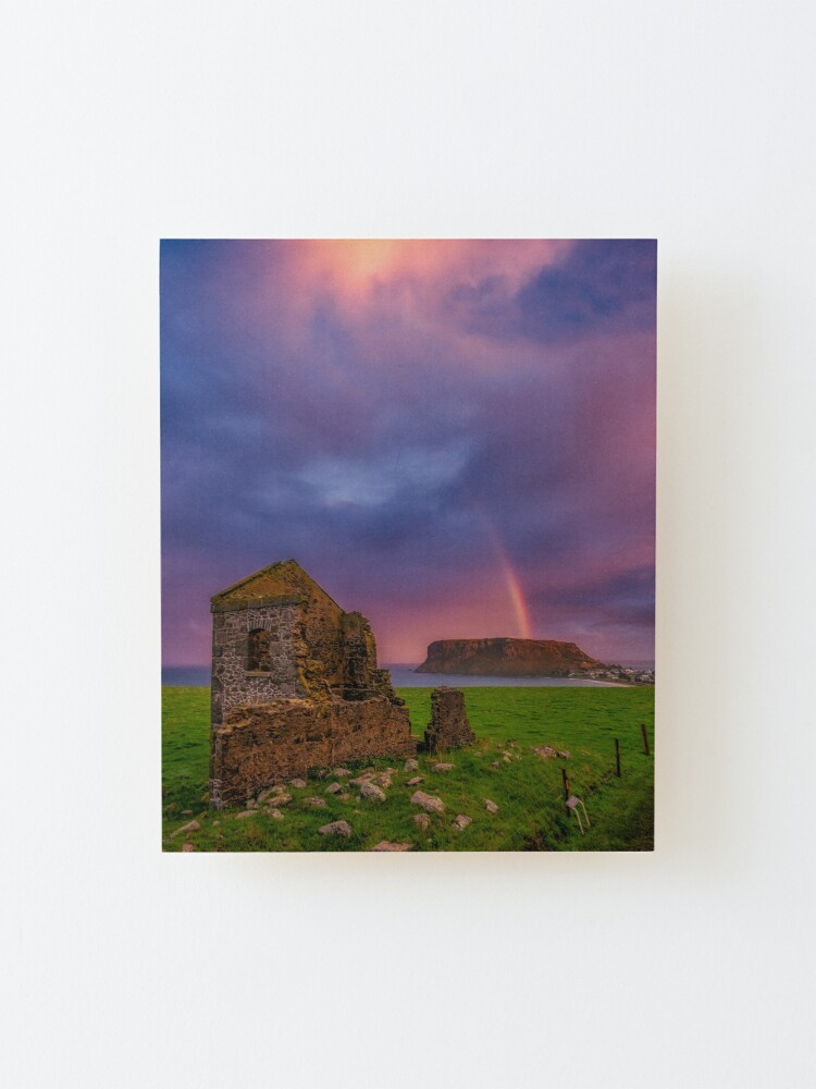 Alternate view of Sunset over Stanley, Tasmania Mounted Print