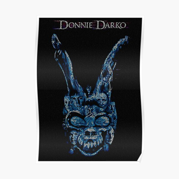 Text Portrait of Donnie Darko poster with full script of Donnie Darko Poster