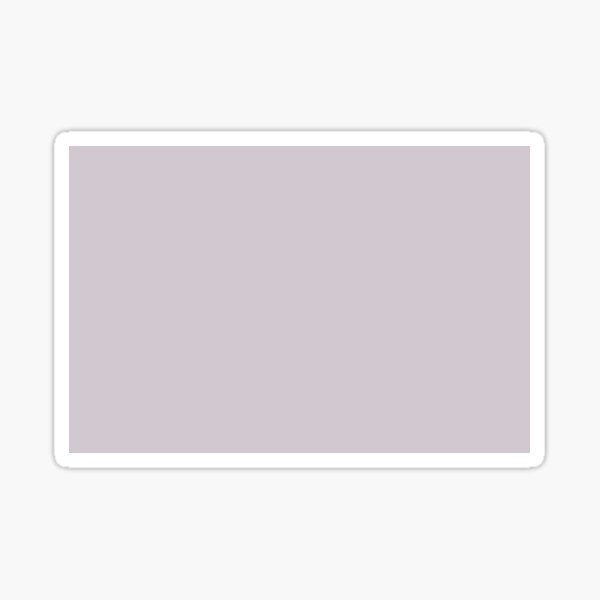 Periwinkle Pastel Purple Solid Color Pairs With Behr Paint's 2020 Forecast Trending Color Dusty Lilac N110-1 Sticker