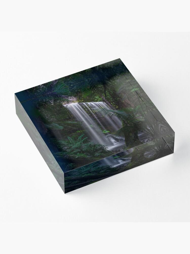 Alternate view of Russell Falls, Tasmania Acrylic Block