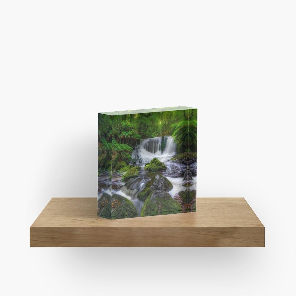 Horseshoe Falls, Tasmania Acrylic Block