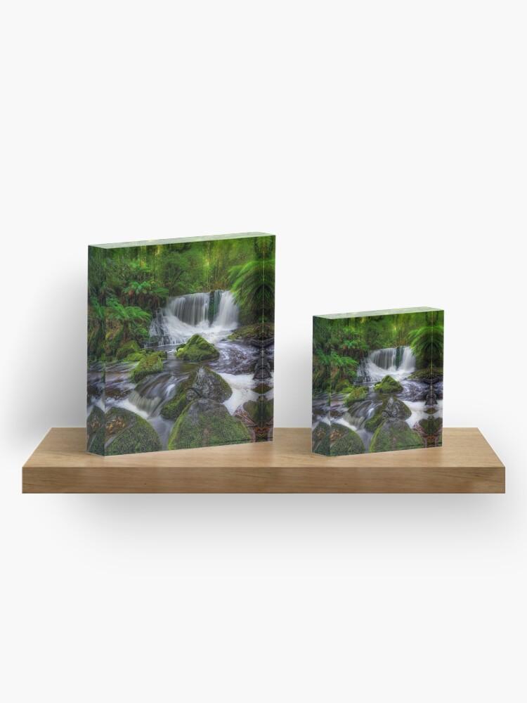 Alternate view of Horseshoe Falls, Tasmania Acrylic Block