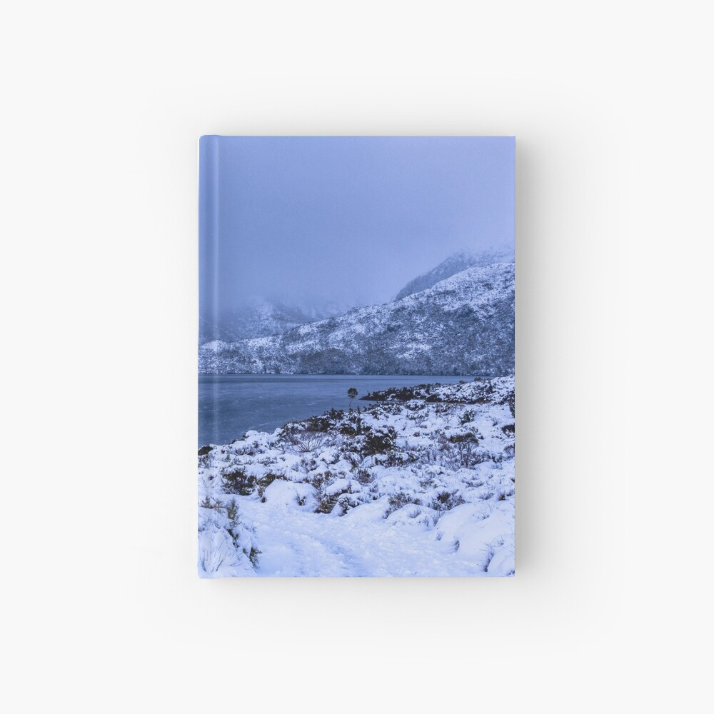 Dove Lake in the Snow Hardcover Journal