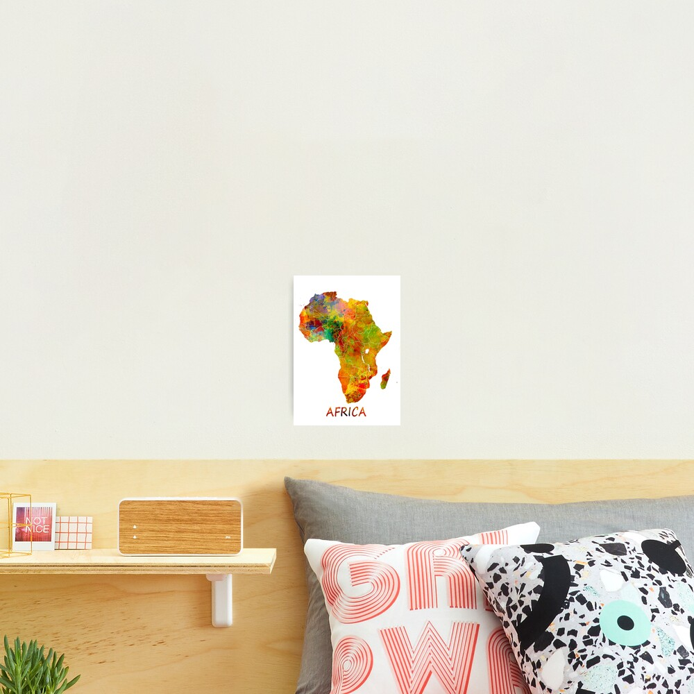 Africa map #africa #map Photographic Print